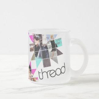 ThreadShow Frosted Glass Coffee Mug