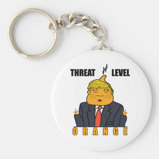 Threat Level Orange Keychain