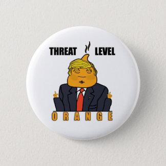 Threat Level Orange Pinback Button