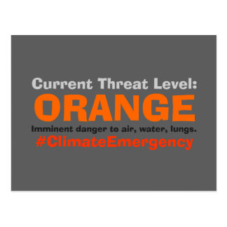 Threat Level Orange Protest Trump Postcard