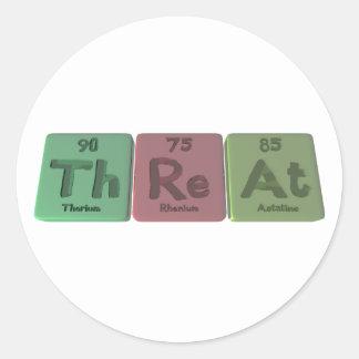 Threat-Th-Re-At-Thorium-Rhenium-Astatine.png Classic Round Sticker