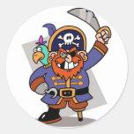 Threatening Pirate Stickers