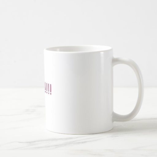THREATS!!!! CLASSIC WHITE COFFEE MUG
