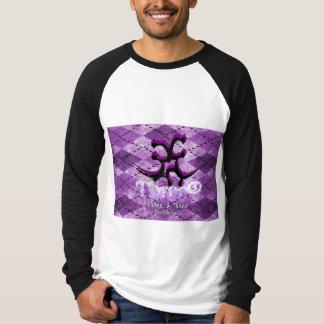 """Three3Three"" Argyle Purp Raglan Blk/Wht T-Shirt"