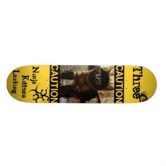 """""""Three3Three"""" Ninja Kittens Deck Skateboard"""