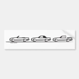 Three 107 SLs Car Bumper Sticker