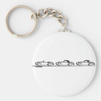 Three 190SLs Keychains