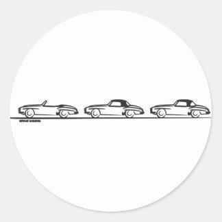Three 190SLs Round Sticker