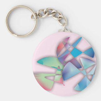 Three Abstract Circles Basic Round Button Keychain