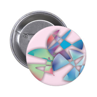 Three Abstract Circles Pinback Button