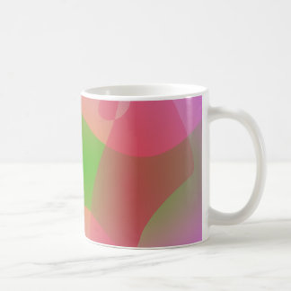 Three Abstract Objects on a Lavender Background Coffee Mug
