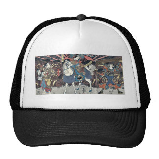 Three actors by Utagawa,Kuniyoshi Trucker Hat