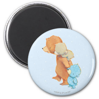 Three Adorable Bear Friends 2 Inch Round Magnet