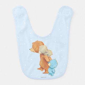 Three Adorable Bear Friends Baby Bib