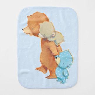 Three Adorable Bear Friends Burp Cloth