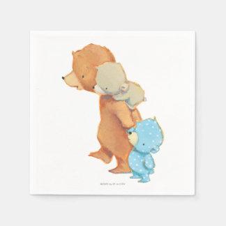 Three Adorable Bear Friends Napkin