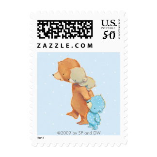 Three Adorable Bear Friends Postage