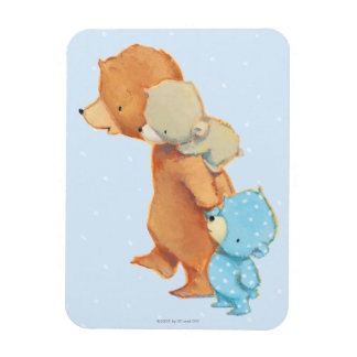 Three Adorable Bear Friends Rectangular Photo Magnet