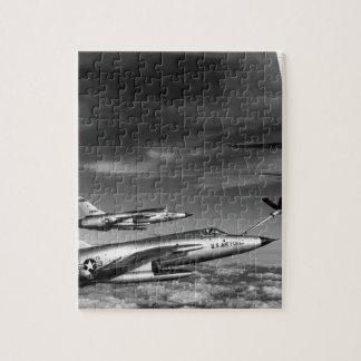 Three Air Force F-105 Thunderchief pilots enroute Jigsaw Puzzle