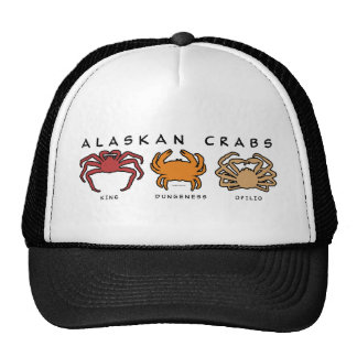THREE ALASKAN CRABS MESH HATS