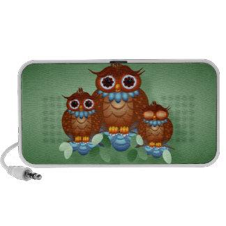 Three Alert Little Owls Speakers