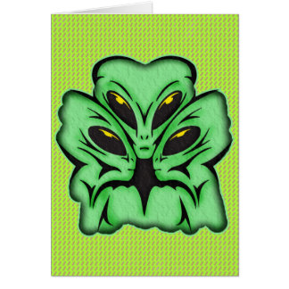 Three Alien Invaders Stationery Note Card