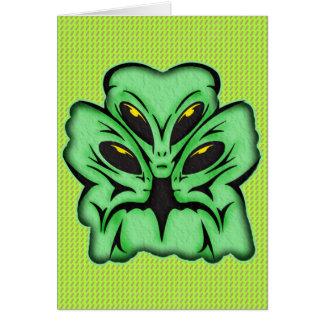 Three Alien Invaders Card