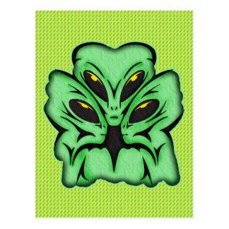 Three Alien Invaders Postcard