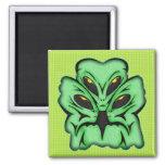 Three Alien Invaders Refrigerator Magnets