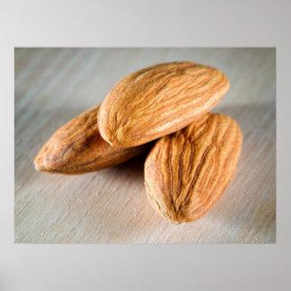 Three almonds posters