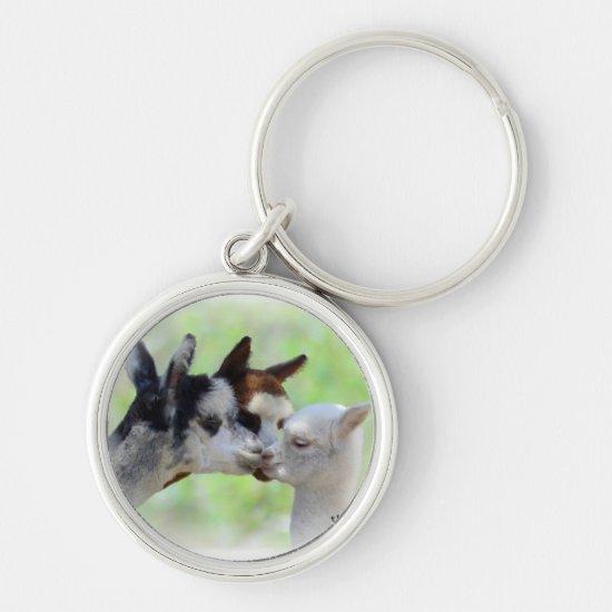 Three Alpacas Keychain