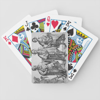 Three American Cherokee Chiefs, 1762 (engraving) Bicycle Playing Cards