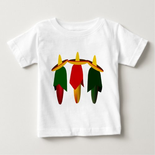 Three Amigo Hot Peppers Infant T_shirt