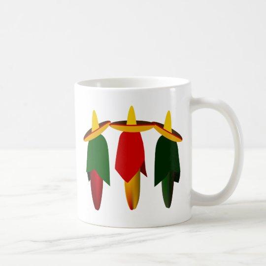 Three Amigo Hot Peppers Mugs