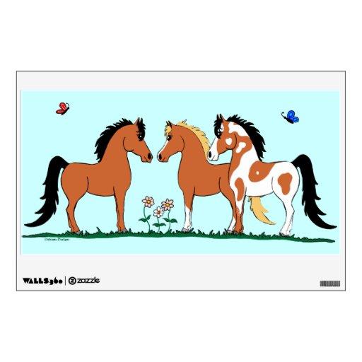 Three Amigos Horse Wall Decal