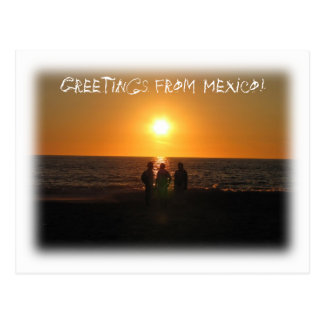 Three Amigos; Mexico Souvenir Postcard