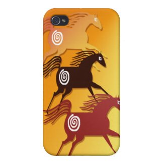 Three Ancient Horses  Cover For iPhone 4