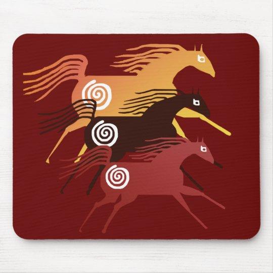 Three Ancient Horses  Mousepad