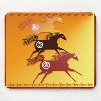 Three Ancient Horses_Mousepad Mouse Pad