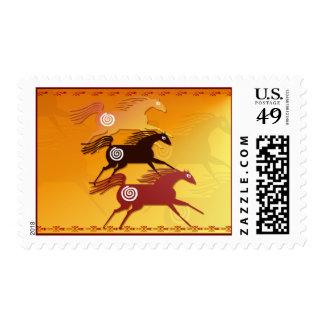 Three Ancient Horses-Postage Postage