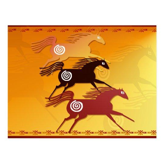 Three Ancient Horses-Postcard Postcard