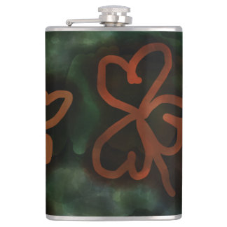 Three and Four-Leaf Clovers Flask! Flask