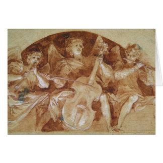 Three Angel Musicians Card