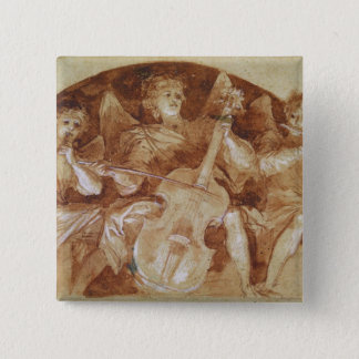 Three Angel Musicians Pinback Button