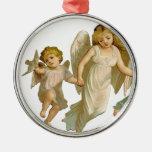 Three angels christmas ornament