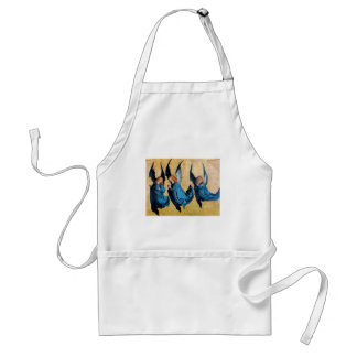 THREE ANGELS IN BLUE ADULT APRON