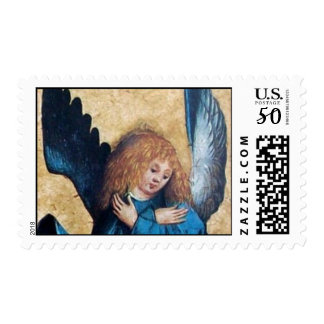 THREE ANGELS IN BLUE detail Postage