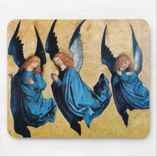 THREE ANGELS IN BLUE MOUSE PAD