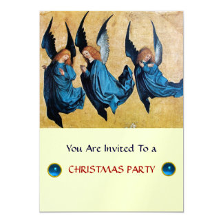 THREE ANGELS IN BLUE ,Sapphire,ice metallic Card