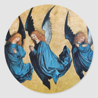 THREE ANGELS IN BLUE STICKERS